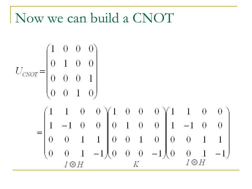 Now we can build a CNOT