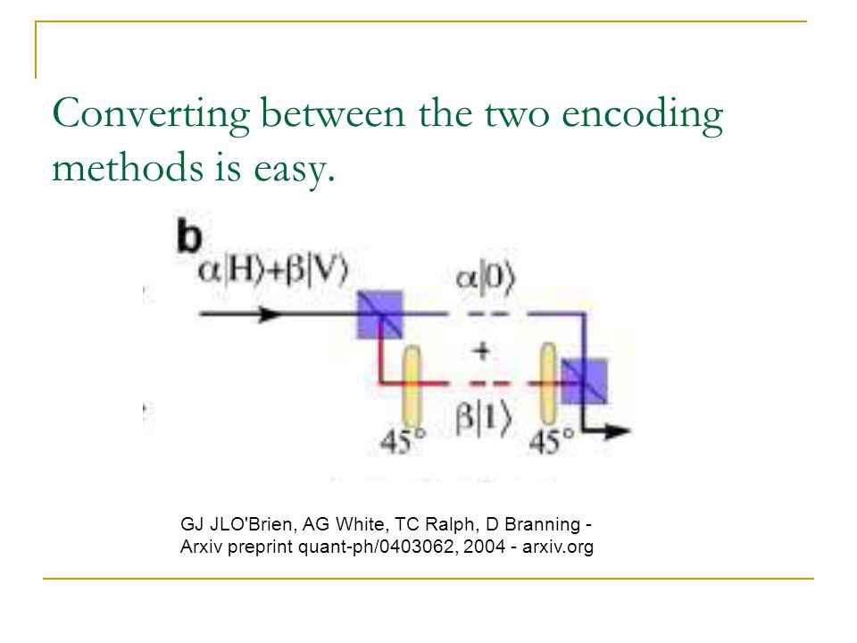 Converting between the two encoding methods is easy.