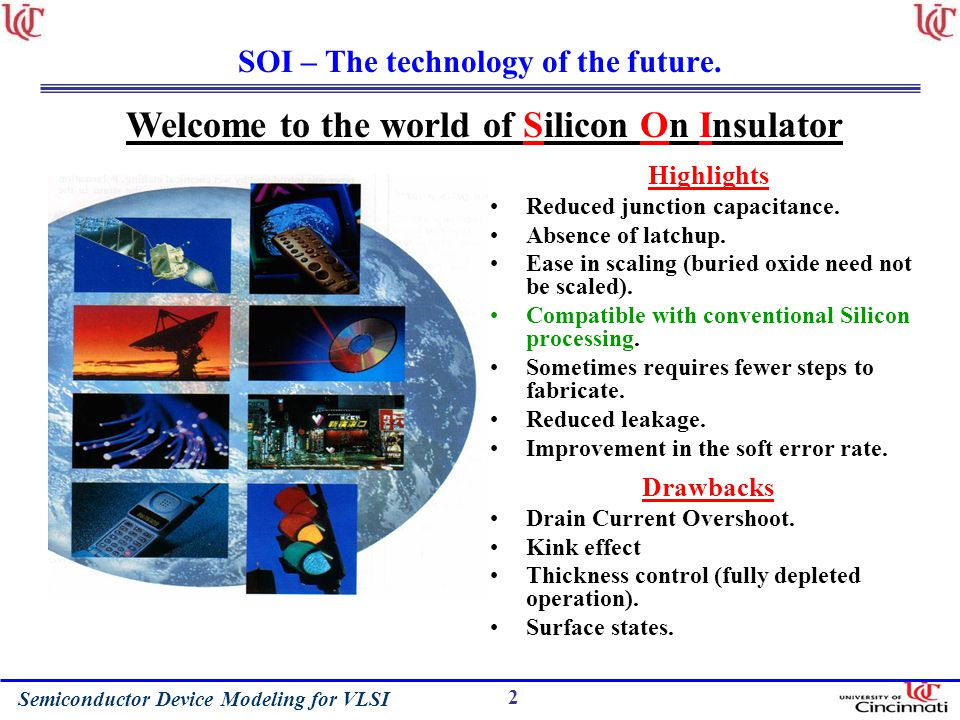 Semiconductor Device Modeling for VLSI 2 SOI – The technology of the future.