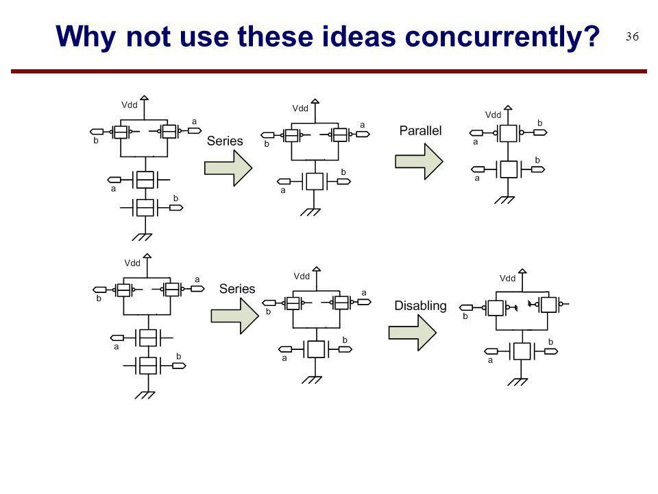 Why not use these ideas concurrently? 36