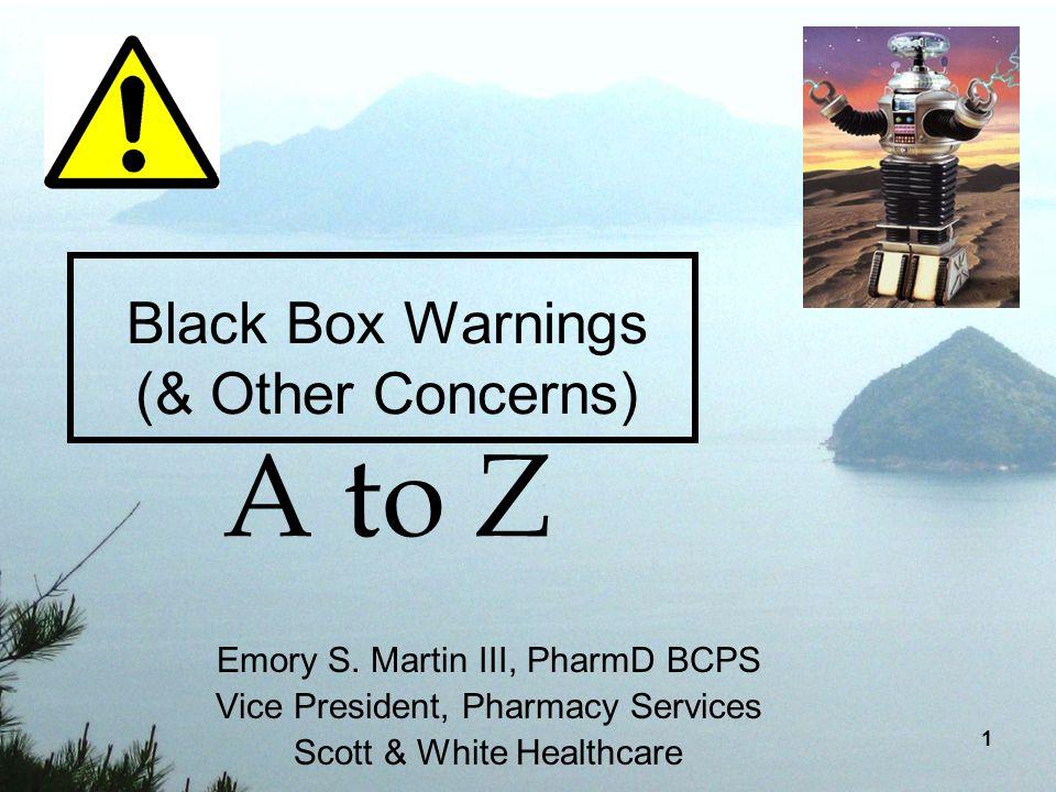 xanax black box warning