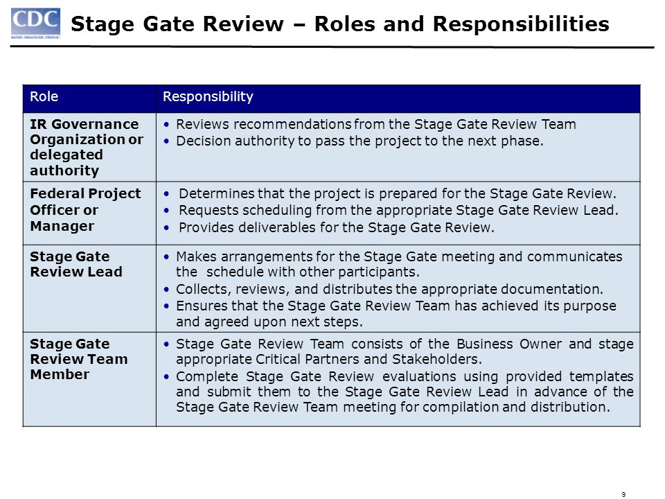 20 Stage Gate I – Operations & Maintenance Purpose: The Operations & Maintenance (O&M) Stage Gate Review evaluates whether the project should be released into the full-scale production environment for sustained use and operations/maintenance support.