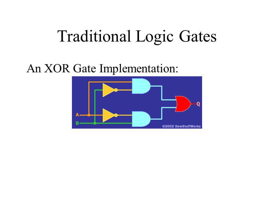 Traditional Logic Gates An XOR Gate Implementation: