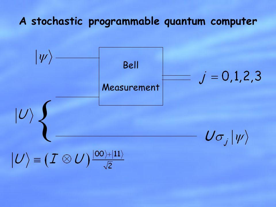 A stochastic programmable quantum computer Bell Measurement {