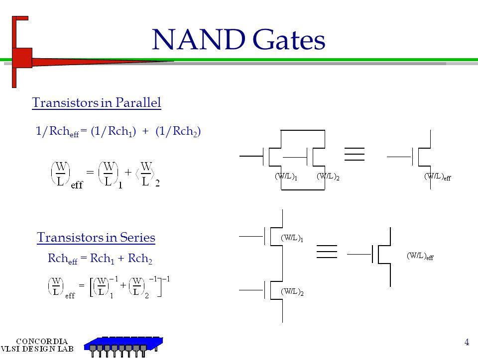 25 NMOS/PMOS as Pass Transistors ViVo C CL NMOS Transistor Passes weak 1 signal Vo = V DD -V TN Passes 0 signal undegraded Vo Vi V DD -V TN ViVo C CL V DD -V TN Vo Vi -V TP PMOS Transistor Passes 1 signal undegraded Passes weak 0 signal Vo= -V TP