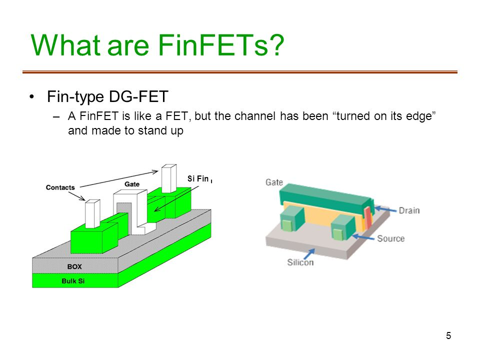5 What are FinFETs.