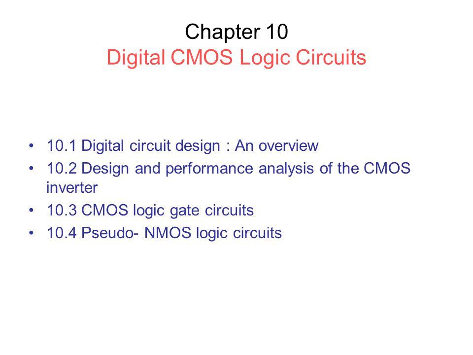 10.3 CMOS Logic Gate Circuits 10.3.1 Basic structure Fig.