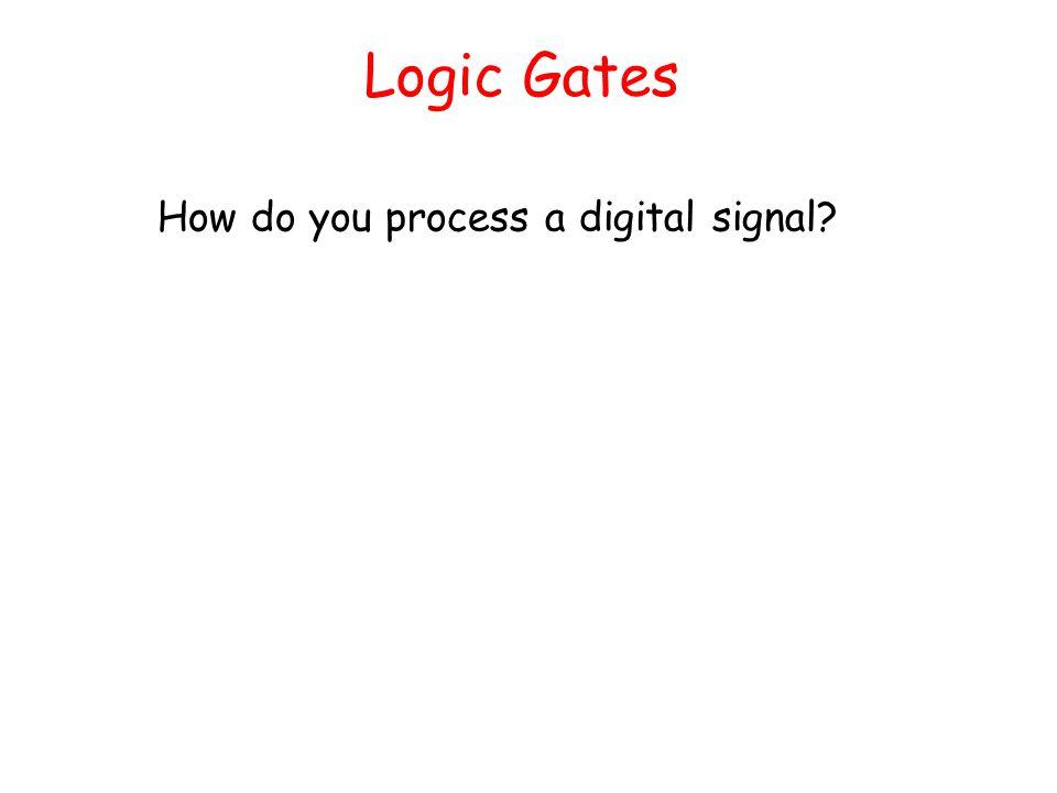 Logic Gates How do you process a digital signal?