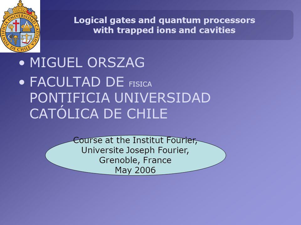 QUANTUM COMPUTATION AND INFORMATION 1982 Feyman: It is possible to improve the computation using Quantum Mechanics.