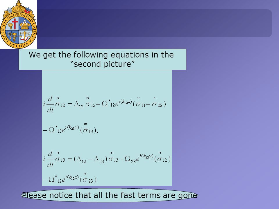 We get the following equations in the second picture Please notice that all the fast terms are gone