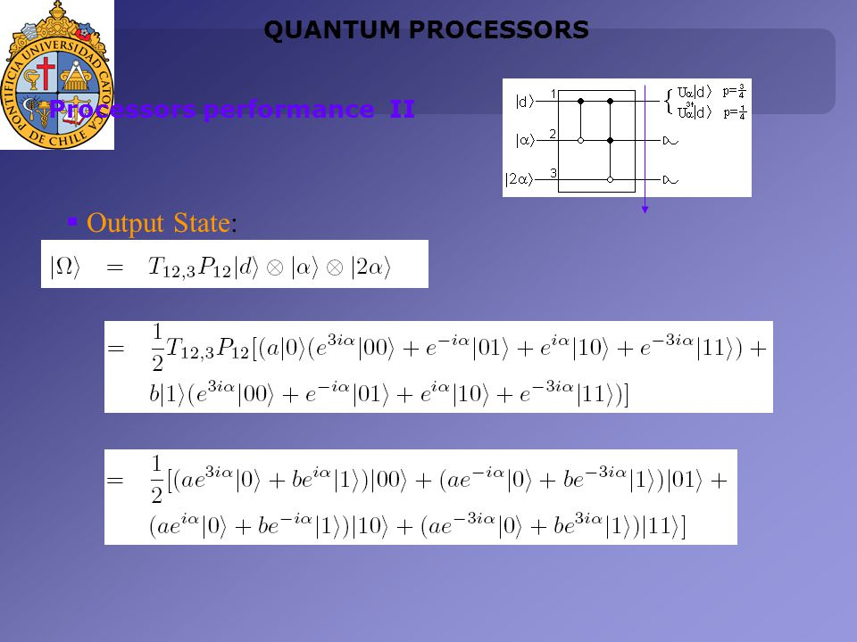 Output State: QUANTUM PROCESSORS Processors performance II