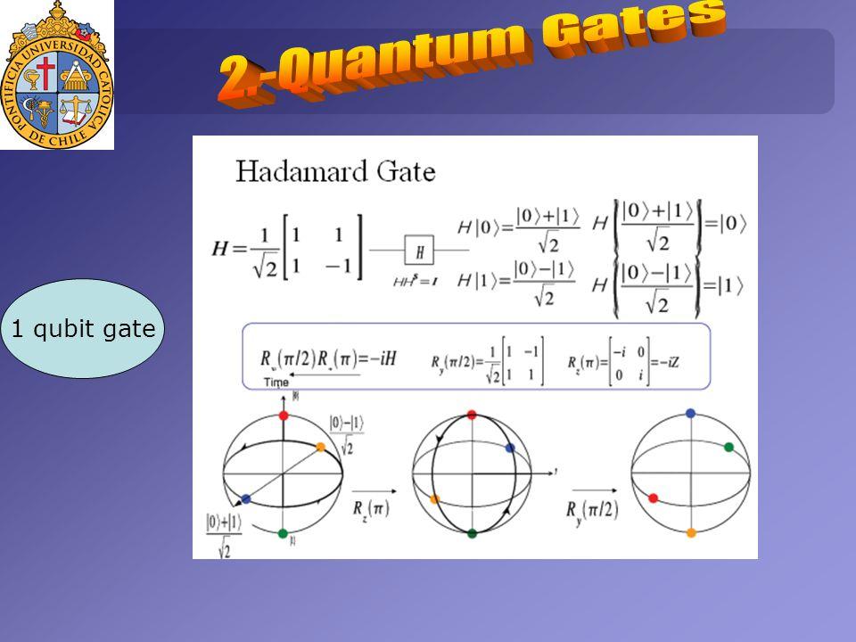 1 qubit gate