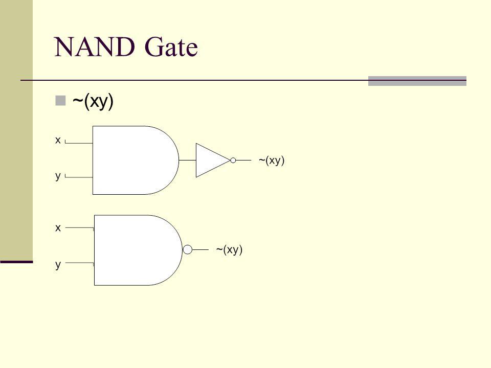 NAND Gate ~(xy)