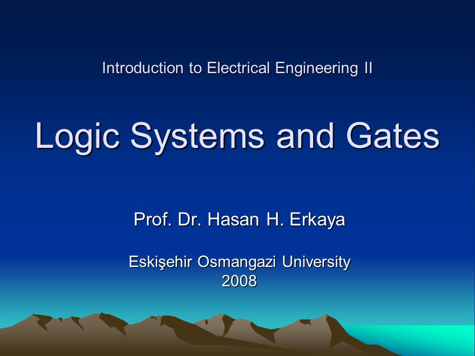 Introduction to Electrical Engineering II Prof. Dr.