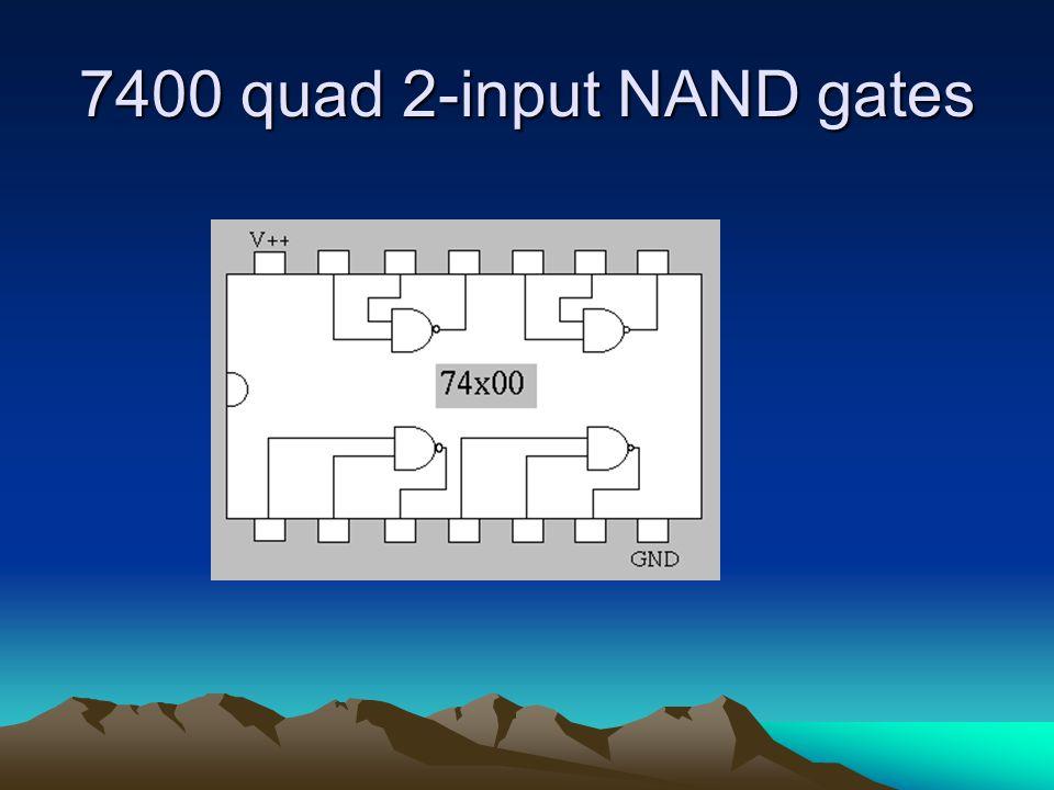 7400 quad 2-input NAND gates