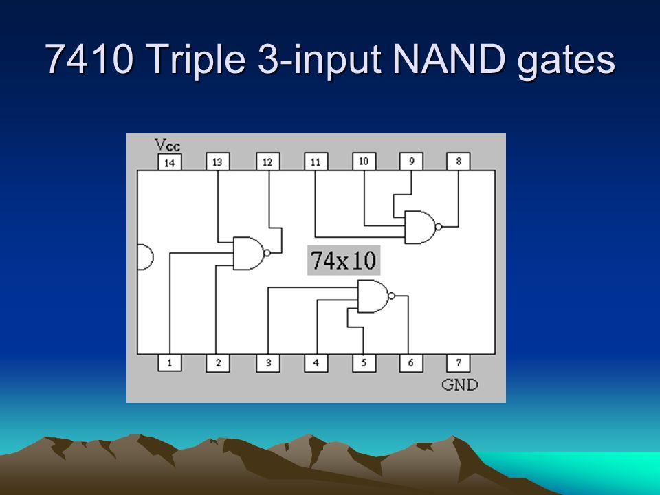7410 Triple 3-input NAND gates