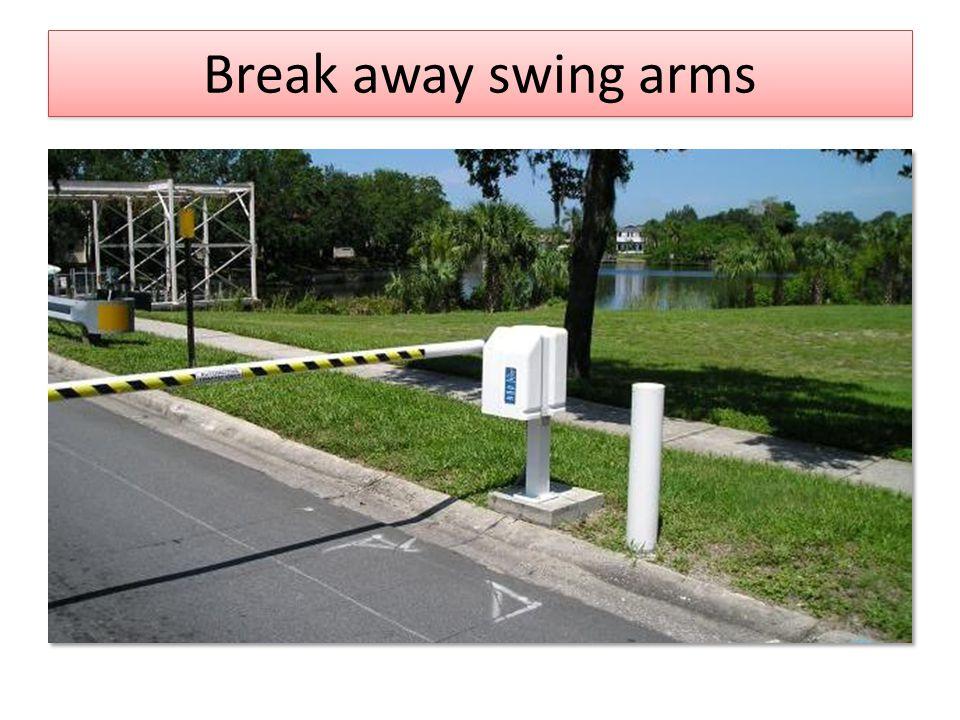 Break away swing arms