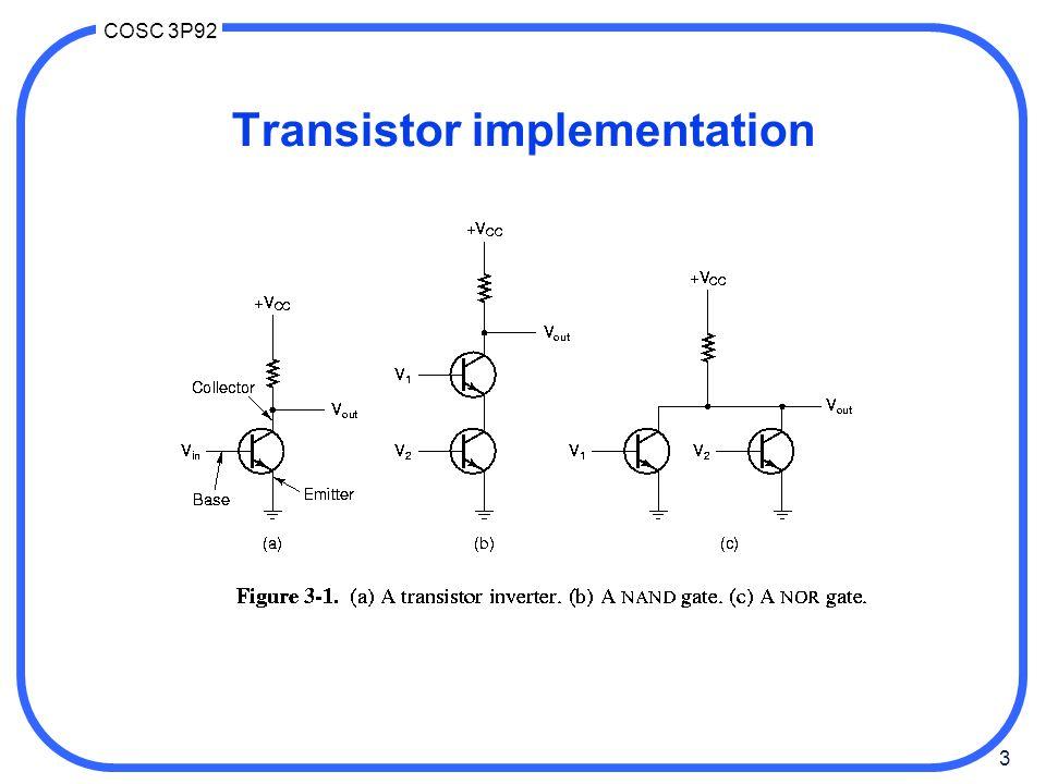 24 COSC 3P92 Arithmetic circuits Simple 1 bit ALU units perform multiple functions.