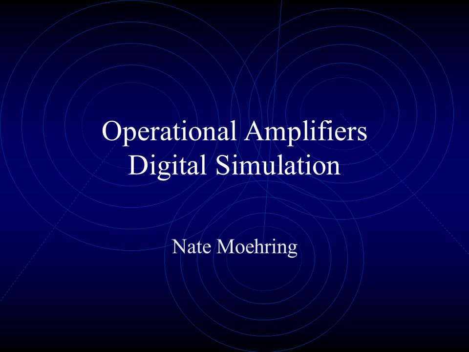 Operational Amplifiers Used in amplifiers, attenuators, and filters Ideal Properties of an Op Amp: Infinite open-loop gain, A ol = infinity Infinite input impedance, R in = infinity Zero output impedance, R out = 0 Zero noise contribution Zero DC output offset Infinite bandwidth, infinite frequency response Both differential inputs stick together
