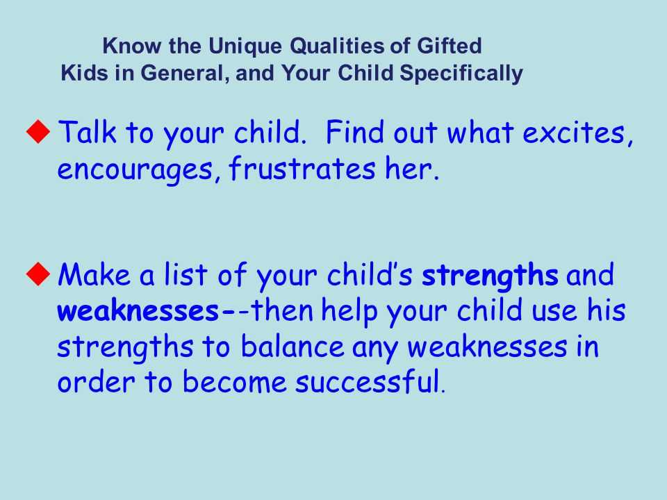 Help Your Child Develop a Realistic Self-Concept uTeach your child that being less than #1 is okay.