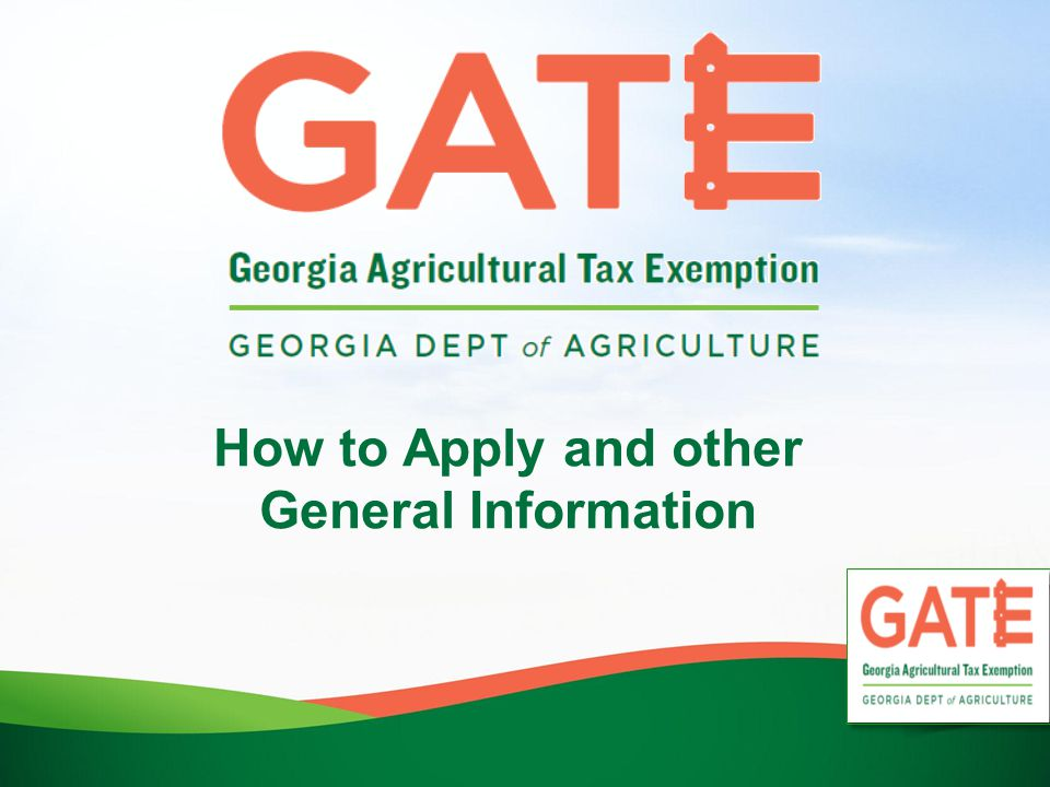 General Rules Applicant seeking GATE Certificate may be regarded as an agriculture producer under one or more of following North American Industry Classification System (NAICS) Codes and shall be used by applicant to determine which code applicant may fall under for purposes of eligibility when applying for GATE Certificate (listed on application).