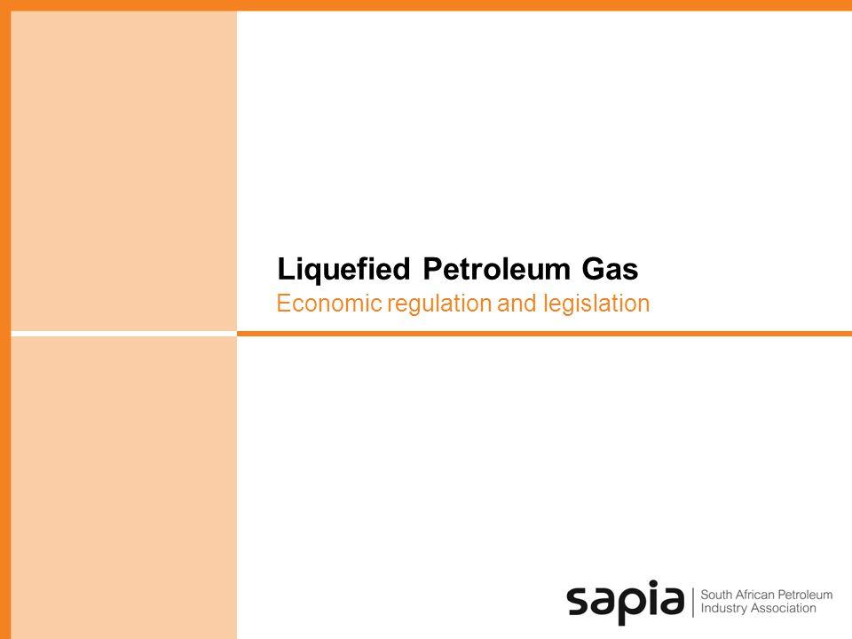 Liquefied Petroleum Gas Economic regulation and legislation