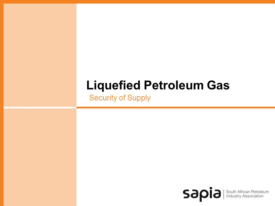Liquefied Petroleum Gas Security of Supply