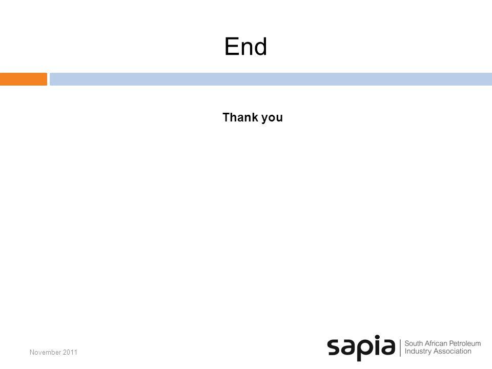 End November 2011 Thank you