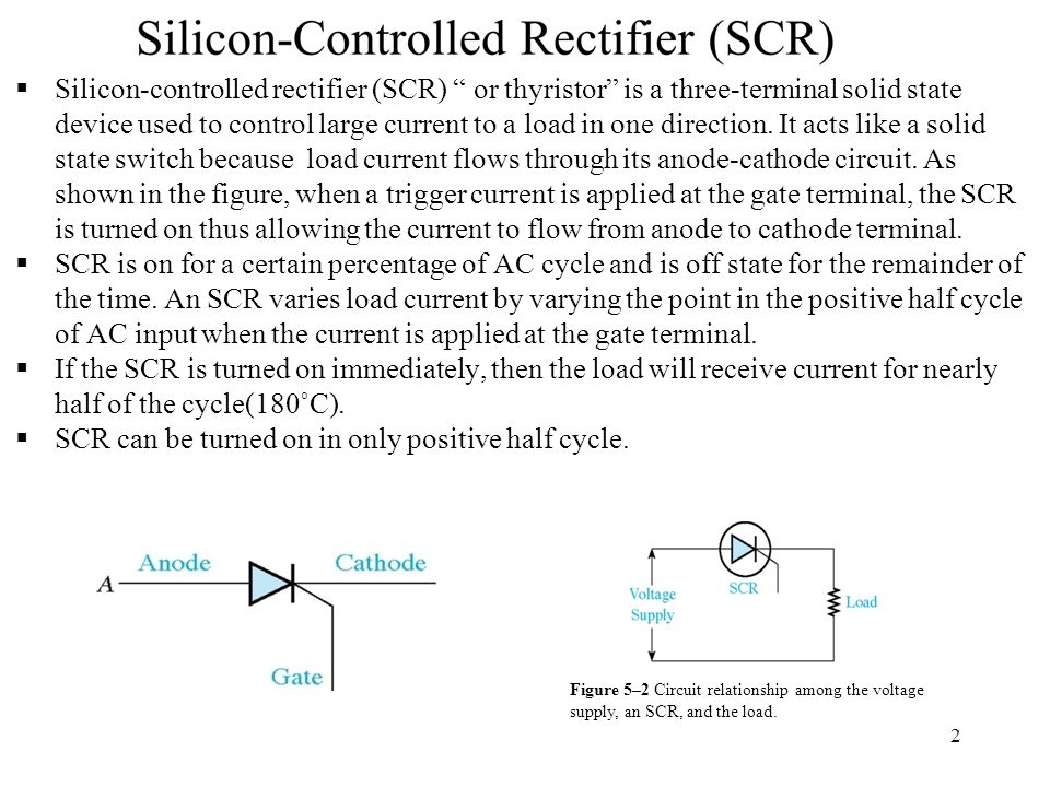 Figure 4–10 SCR gate control circuit using a four-layer diode (or any breakover device).