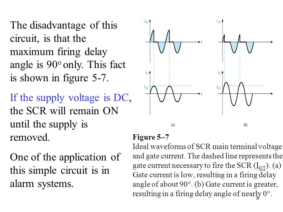 Figure 5–8 SCR gate control circuit which is an improvement on the circuit of Fig.