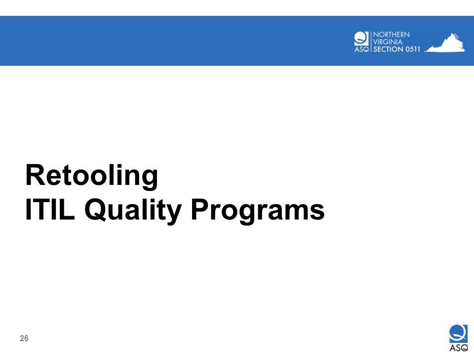 26 Retooling ITIL Quality Programs