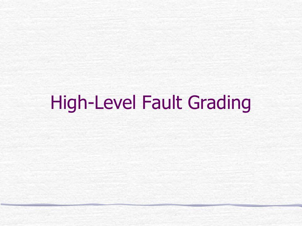 High-Level Fault Grading