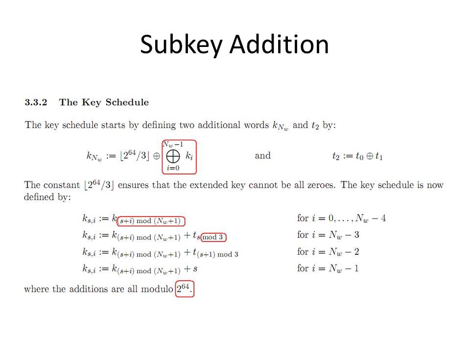Subkey Addition
