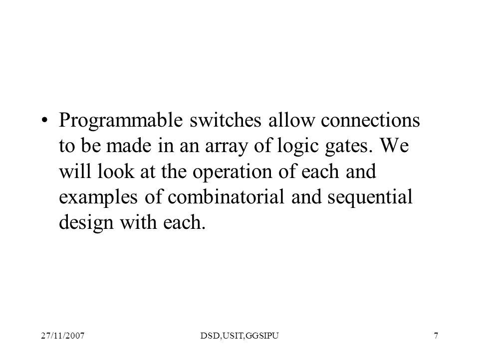 27/11/2007DSD,USIT,GGSIPU18 Direct Interconnect