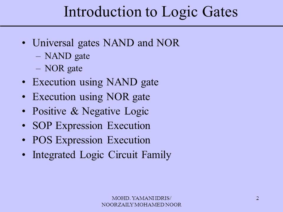 MOHD. YAMANI IDRIS/ NOORZAILY MOHAMED NOOR 23 Build using NOR gate
