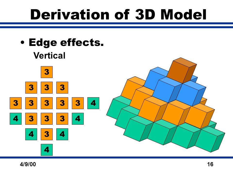 4/9/0016 Derivation of 3D Model Edge effects. Vertical 3 3 3 3 3 33 3 4 4 4 4 4 4 12 2 2 2 33 3 3 3