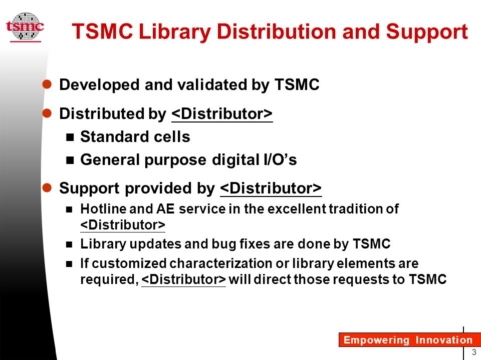 4 Empowering Innovation Why is TSMC Creating Libraries.