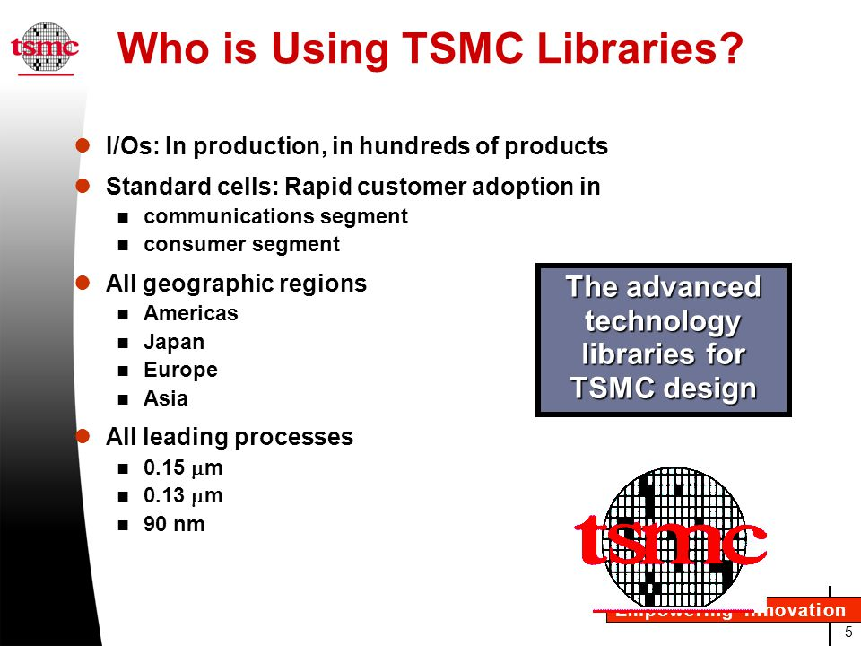 26 Empowering Innovation Summary Advanced DFM features Advanced power features Advanced ECO flexibility Most extensive characterization Flow proven and silicon validated Rapid market adoption The advanced technology libraries for TSMC design