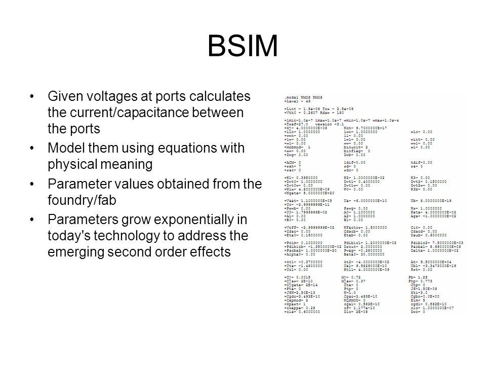 Circuit Simulation Circuit simulators like SPICE (Simulation Program with Integrated Circuit Emphasis) – a general purpose analog circuit simulator.