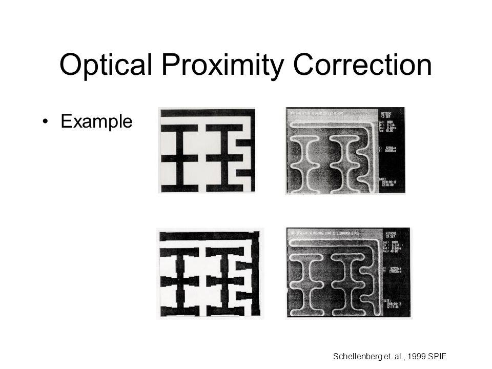 Optical Proximity Correction Example Schellenberg et. al., 1999 SPIE