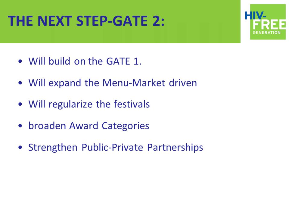 THE NEXT STEP-GATE 2: Will build on the GATE 1.