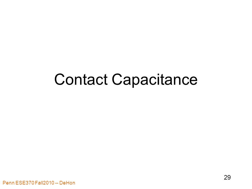 Contact Capacitance Penn ESE370 Fall2010 -- DeHon 29