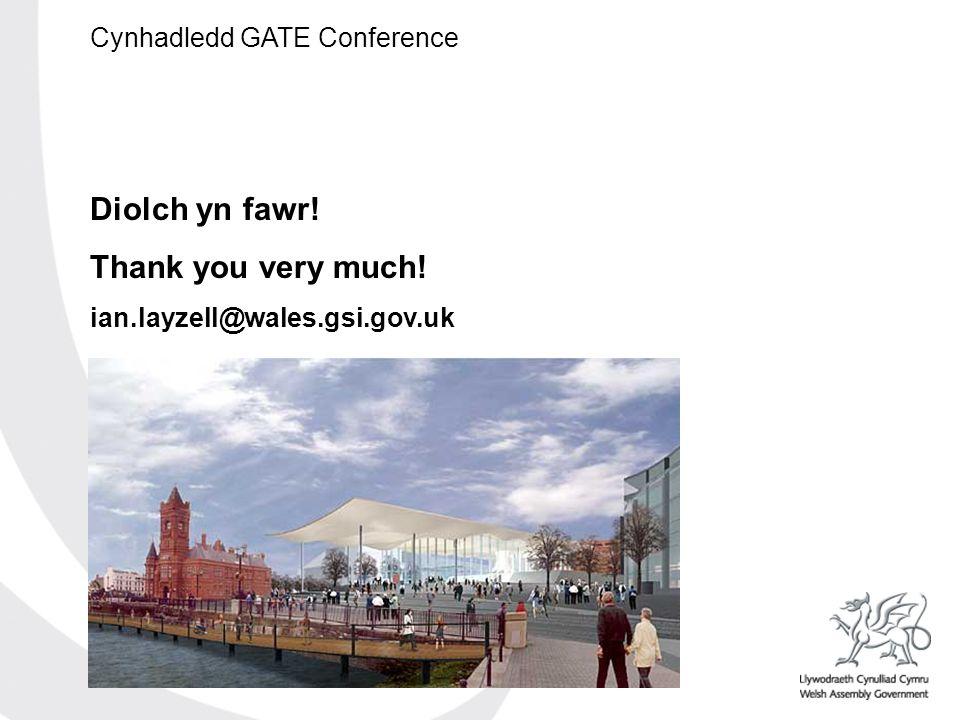 Cynhadledd GATE Conference Diolch yn fawr! Thank you very much! ian.layzell@wales.gsi.gov.uk