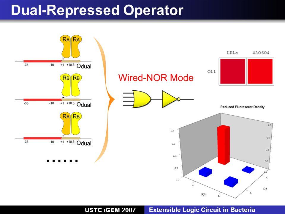 USTC iGEM 2007 Extensible Logic Circuit in Bacteria Dual-Repressed Operator