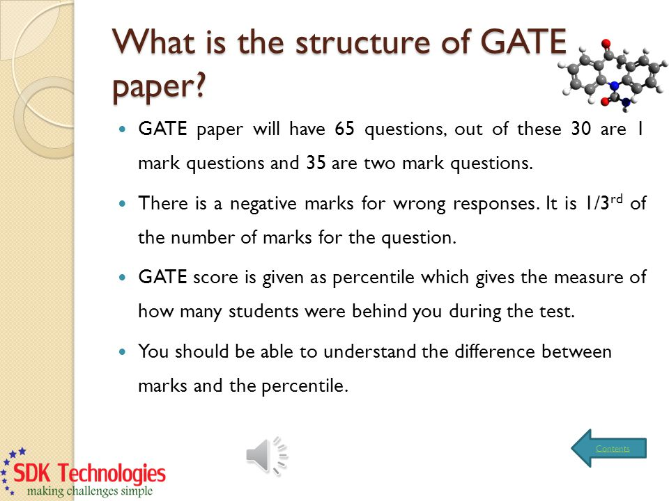 What is the structure of GATE paper.