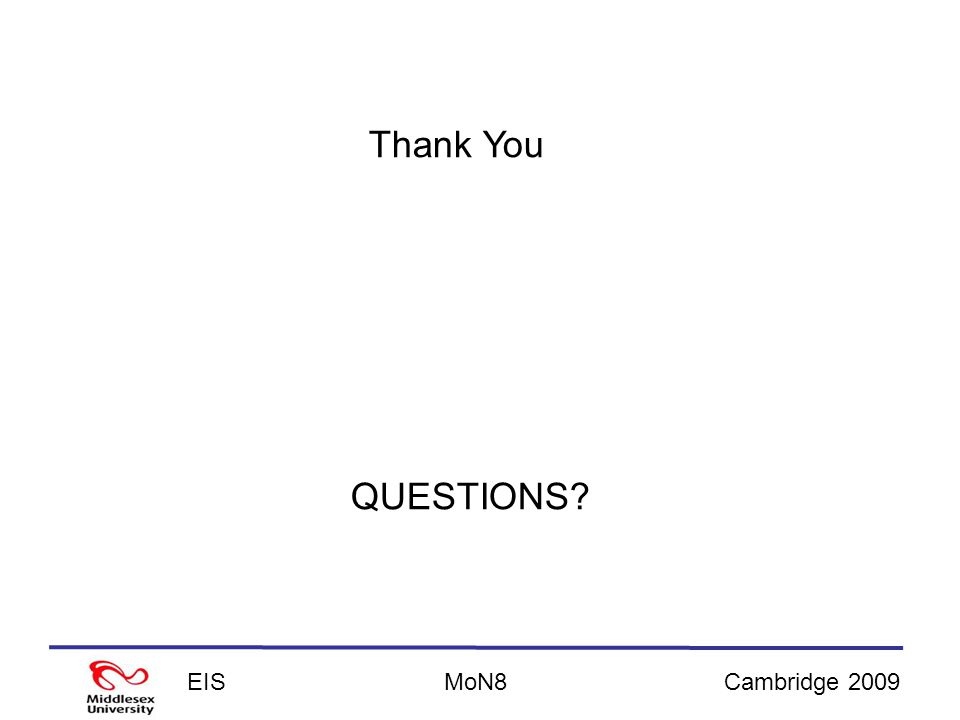 EISCambridge 2009MoN8 QUESTIONS Thank You