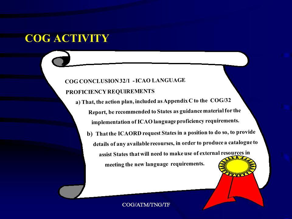 COG/ATM/TNG/TF ICAO - EUROCONTROL EUROPEAN SEMINAR ON LANGUAGE PROFICIENCY FOR AERONAUTICAL COMMUNICATIONS (Brussels, Belgium, 27-28 October 2005)