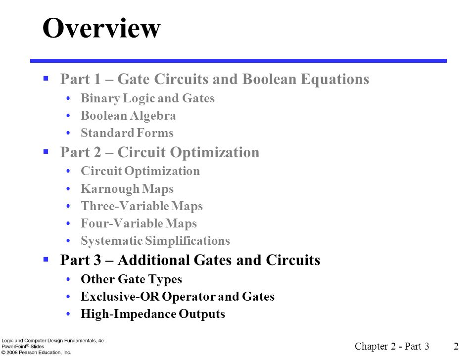 Chapter 2 - Part 3 3 Other Gate Types Why.