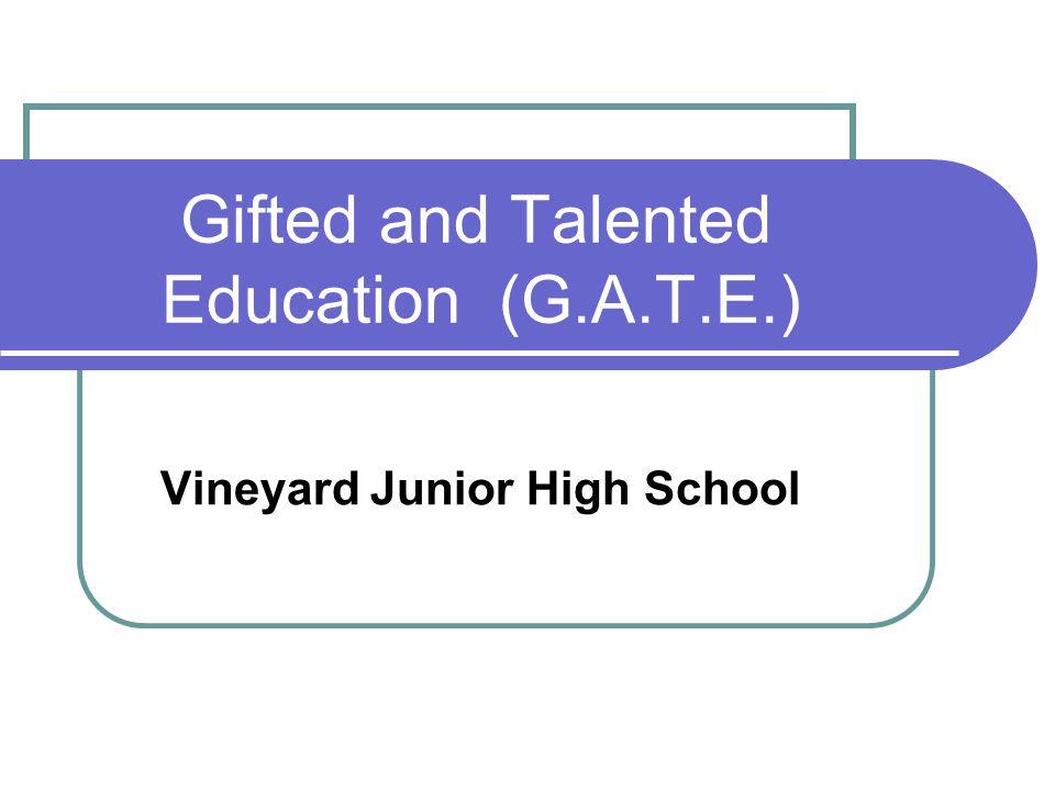 G.A.T.E.Classes at Vineyard G.A.T.E.