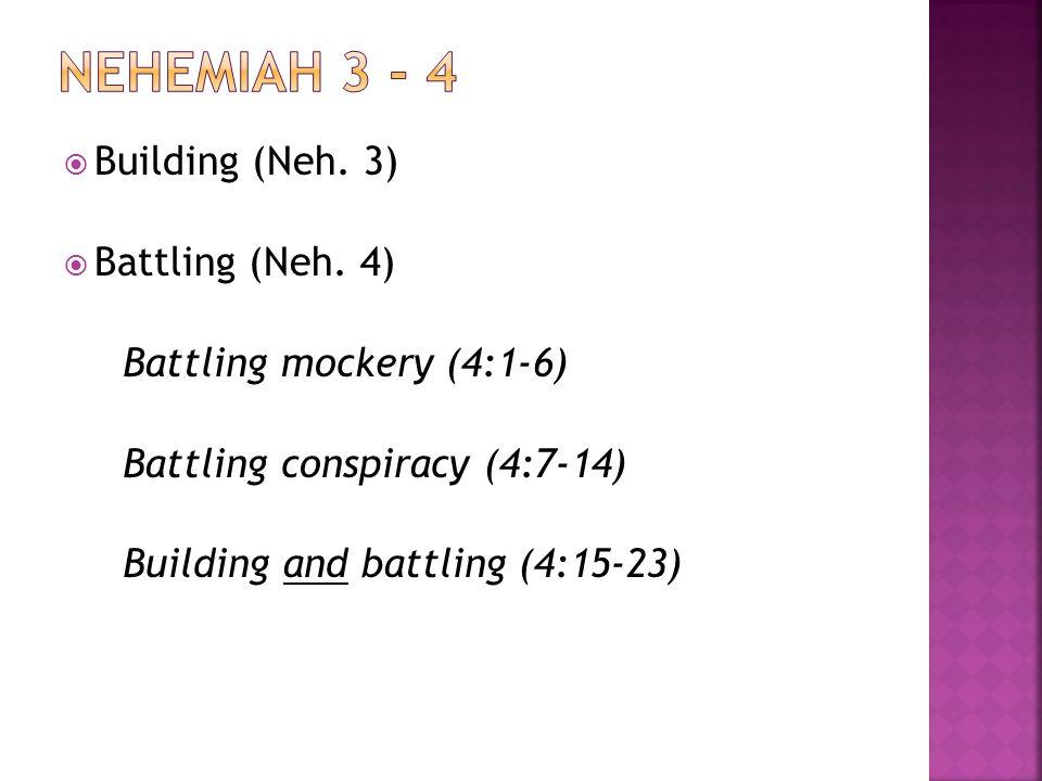 Building (Neh. 3) Battling (Neh.